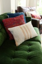 Emerald Green Velvet is a great backdrop for a mix of global texture