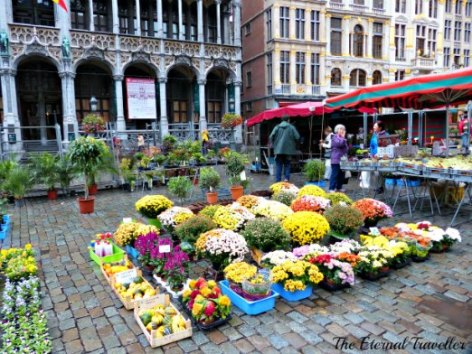 Market day in the Grand Place