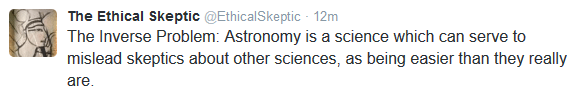 Astronomy skeptics fail to grasp science