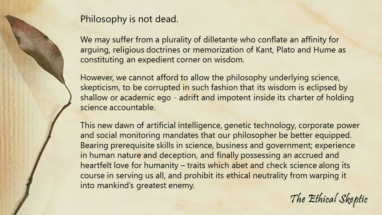 Rumors of Philosophy's Demise are Greatly Exaggerated | The