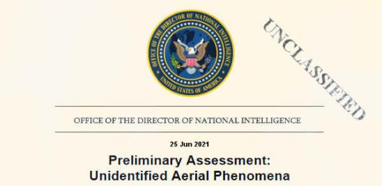 Preliminary Assessment: Unidentified Aerial Phenomena report cover