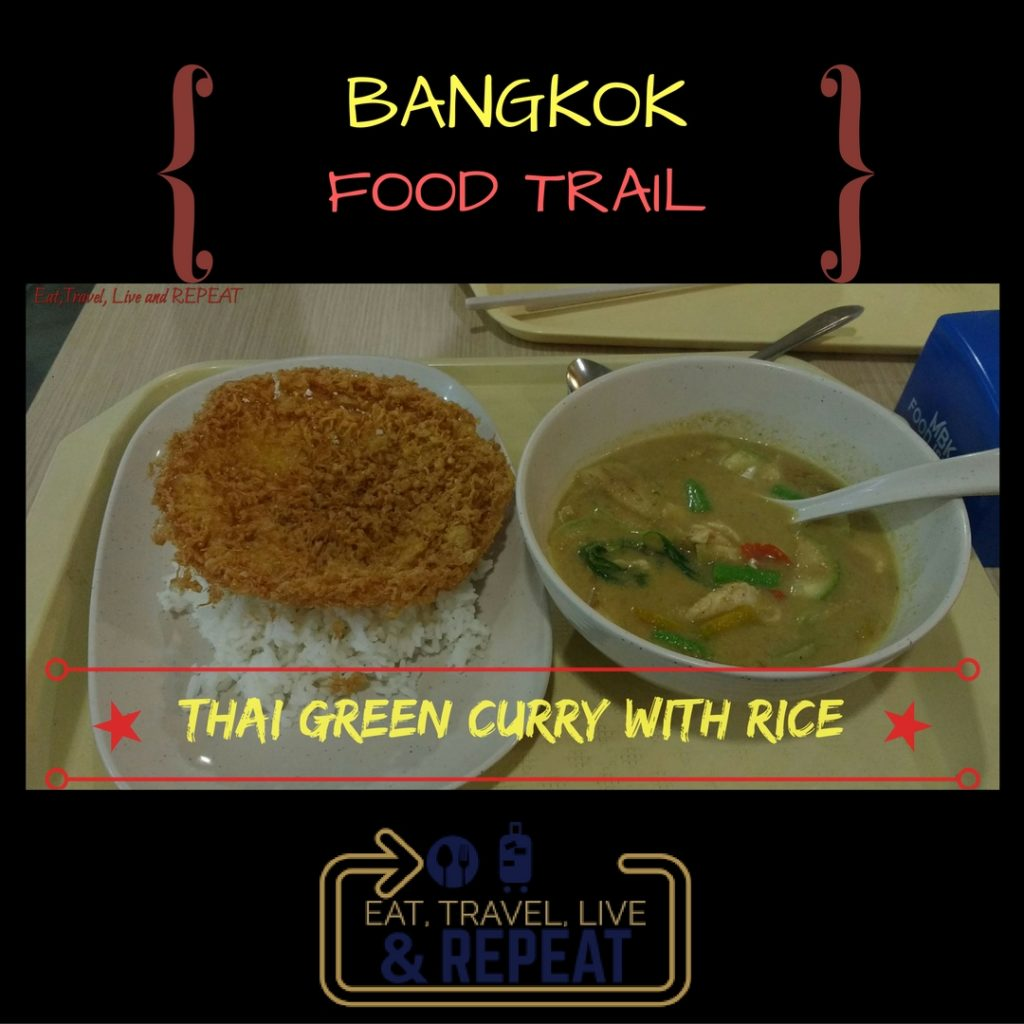 thai green curry with rice bangkok food trail