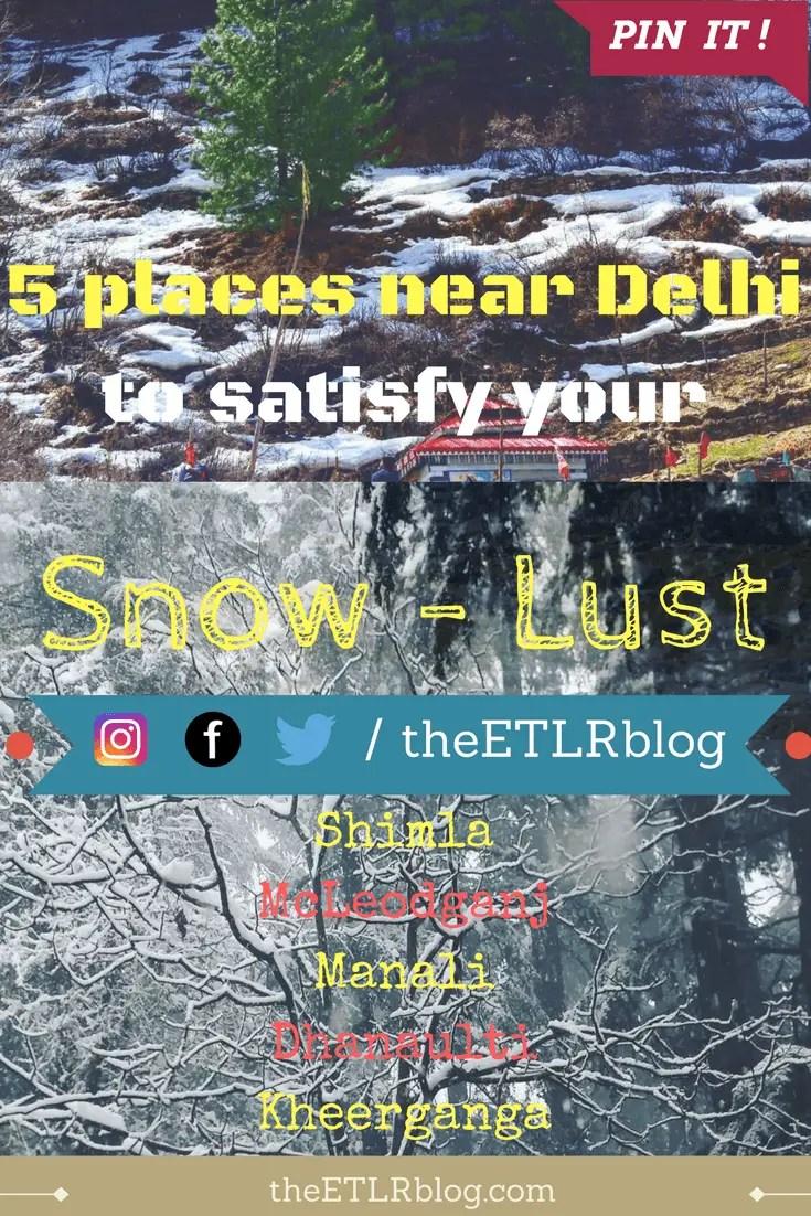 catching snowfall near delhi