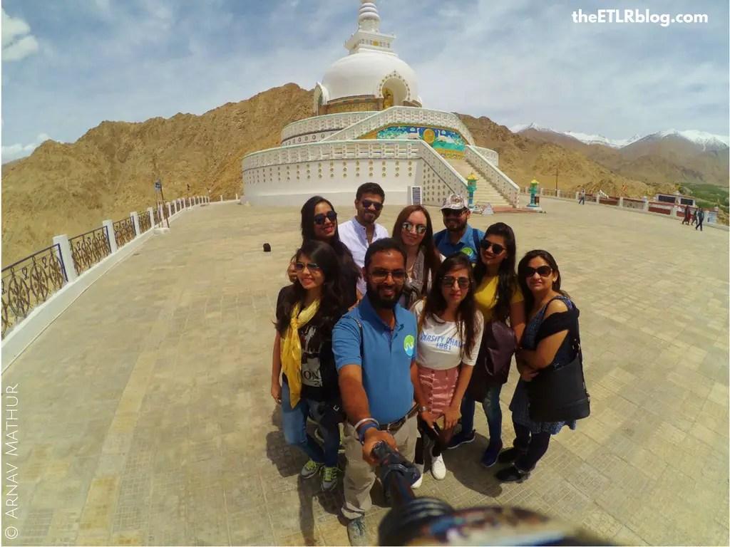 Ladakh your Instagram favorite destination - action camera groupfie