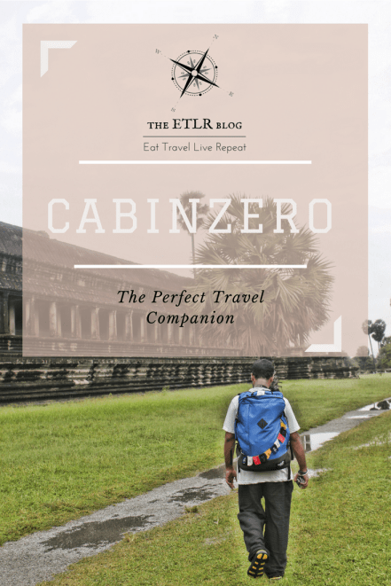 CabinZero Backpack Review by the ETLR blog.com