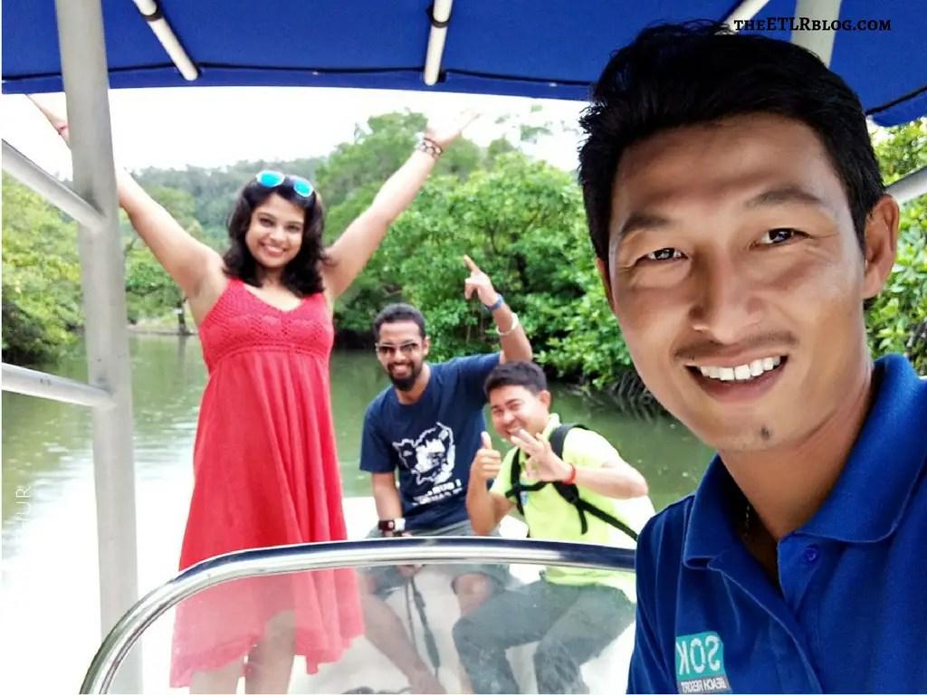 boat trip floating fishing village and mangroves koh rong