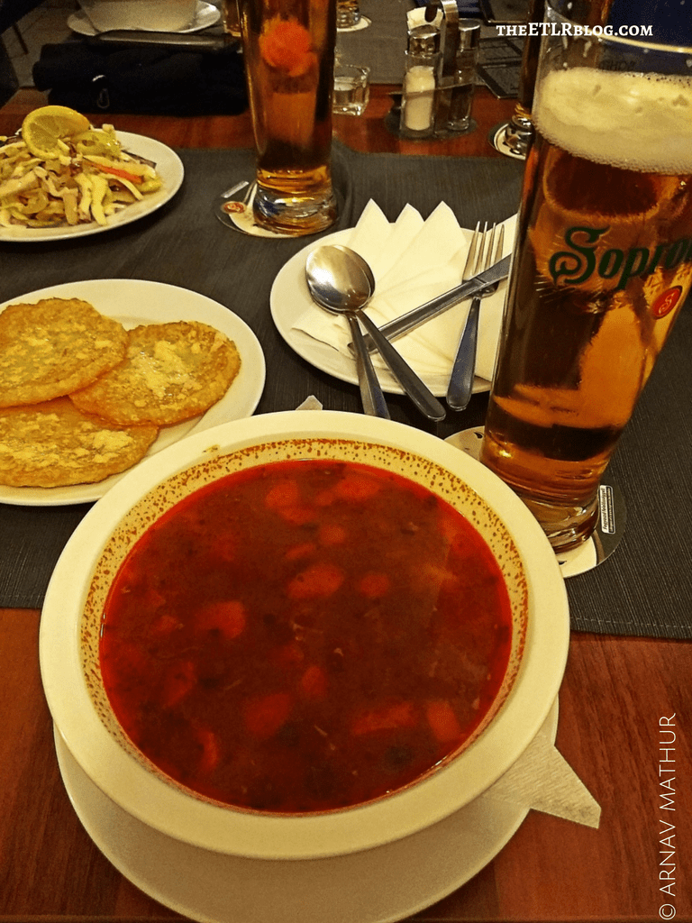 Gulas food Prague beer