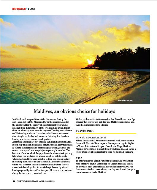 Maldives With ETLR