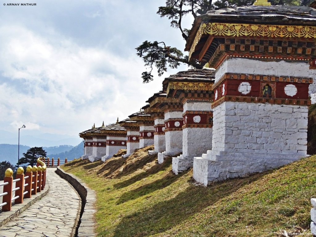 The 108 chortens at Dochu La Pass - Bhutan Photo Blog by Arnav Mathur