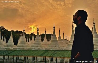 Sunset Time at Sandamuni Pagoda