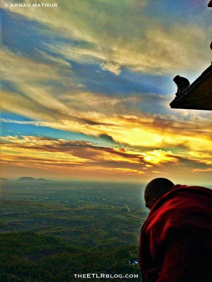 Sunset at Mt Popa Bagan