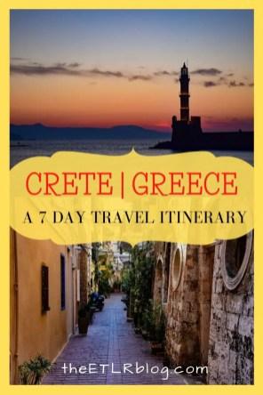 Crete 7 Day Travel Itinerary | Crete Travel Guide