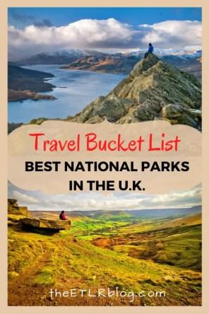 UK Travel Bucket List - Best National Parks | theETLRblog