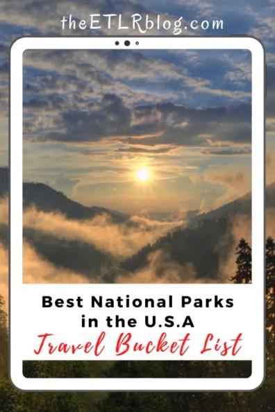 USA Travel Bucket List - Best National Parks