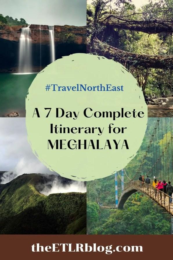 Meghalaya itinerary