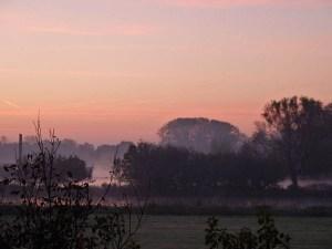 uitzicht bij zonsopgang