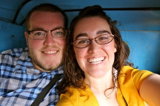 And of course we had to get a picture of us in the back of a rickshaw too!