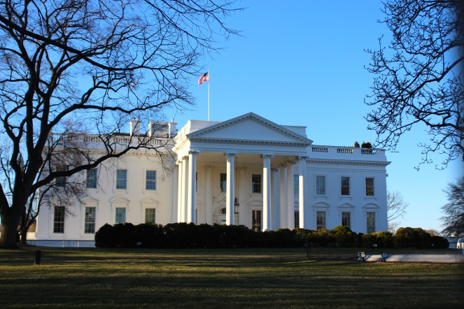 The first thing we saw on our trip to DC was the White House.