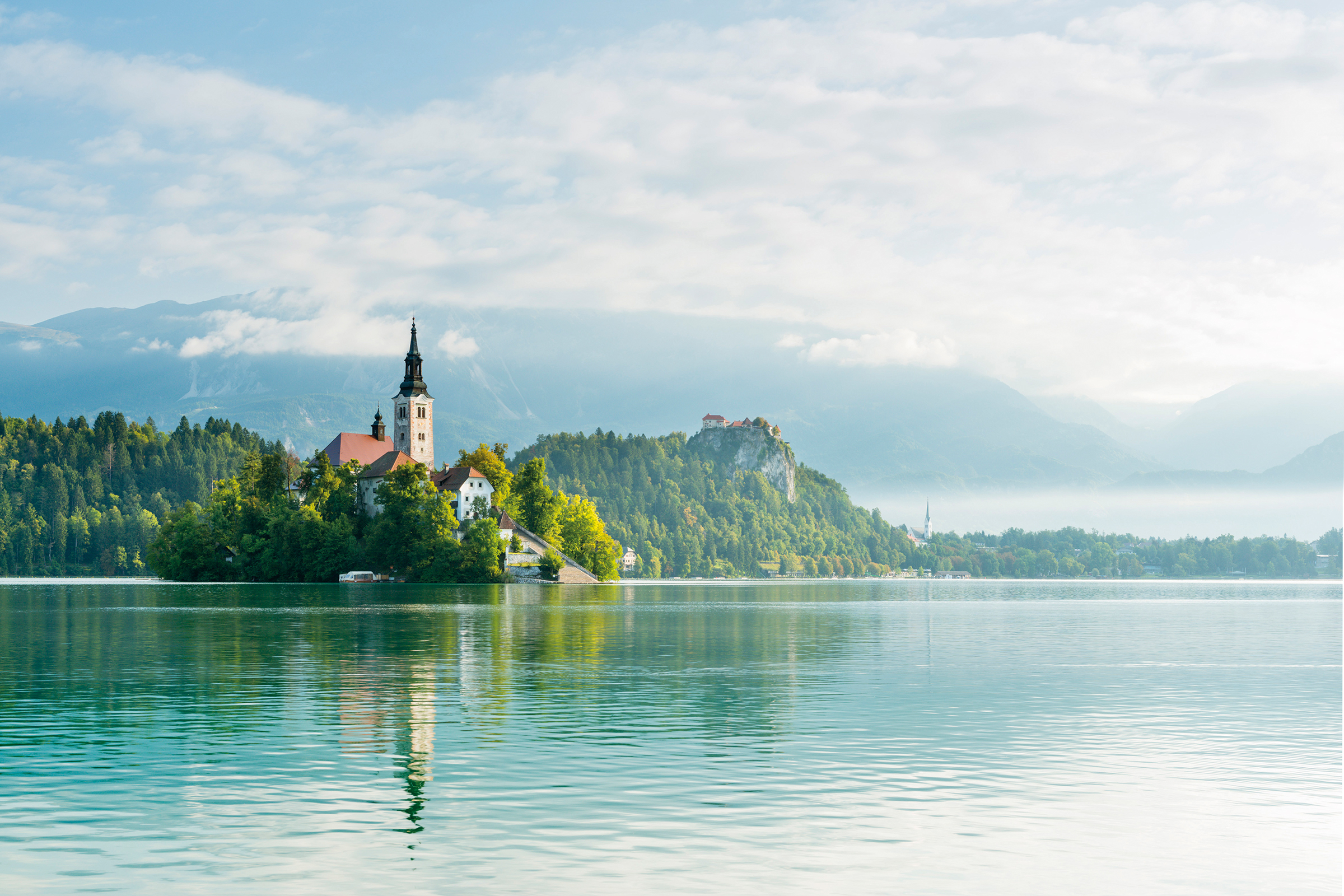 Lake Bled Slovenia on a sunny day