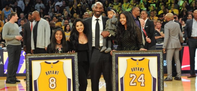 Kobe Bryant and Bryant Family