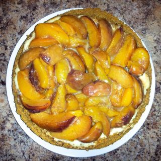 Bourbon Roasted Peach Cheesecake