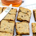 Brown Butter Bourbon Chocolate Blondies