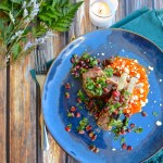 Lamb Chops with Pomegranate Gremolata and Carrot Goat Cheese Mash