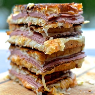 The gooey, juicy, cheesy Classic Pastrami Reuben is deceptively quick and easy to make. Perfect for St. Patrick's Day and for any other day of the year! | theeverykitchen.com