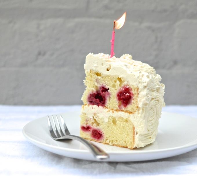 Wondrous Happy 1St Birthday Raspberry Greek Yogurt Cake With Lemon Personalised Birthday Cards Paralily Jamesorg