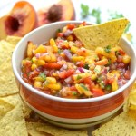 Perfect for your summer get-together! Fresh Mango Peach Salsa at theeverykitchen.com