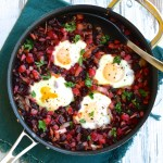 Beet Hash with Runny Eggs is ready in under 30 minutes | theeverykitchen.com