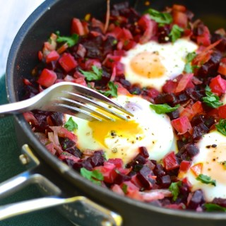 Beet & Turnip Hash with Runny Eggs - ready in less than 30 minutes! Recipe at www.theeverykitchen.com