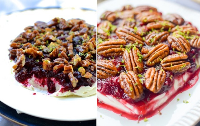 Old pictures vs. new! Cranberry Sauce Cream Cheese Dip with Candied Pecans | theeverykitchen.com