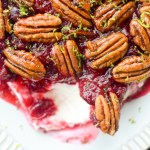 Cranberry Cream Cheese Dip with Candied Pecans