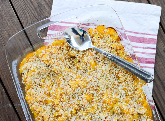 Butternut Squash Crabmeat Mac & Cheese | www.theeverykitchen.com