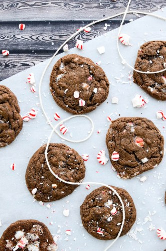 Fudgy Double Chocolate Peppermint Cookies The Every Kitchen