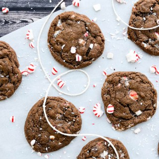 Fudgy Double Chocolate Peppermint Cookies