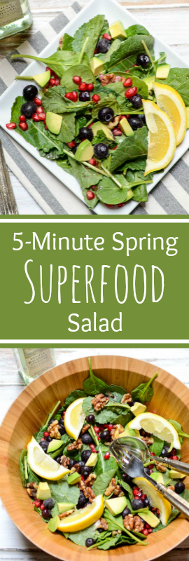 5-Minute Spring Superfood Salad brings all my favorite into one bowl! | theeverykitchen.com