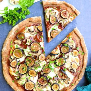 Fig & Mushroom Barbecue Pizza