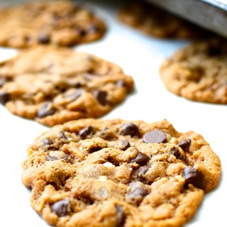 Flourless Butterless Almond Butter Chocolate Chip Cookies
