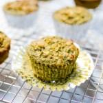 Matcha Ginger Oat Muffins