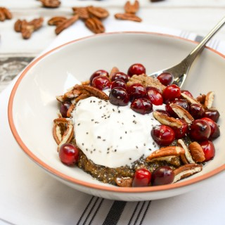 Cranberry-Pecan Spiced Quinoa Breakfast Bowls