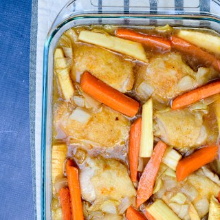 Simply Braised Chicken Thighs with Winter Root Vegetables | www.theeverykitchen.com