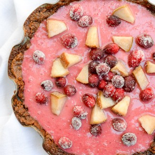 Cranberry-Pear Cream Pie with Gingersnap Crust