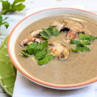 Dairy-Free Creamy Mushroom Soup