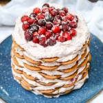 Gingersnap Icebox Cake with Cranberry Mascarpone Whipped Cream