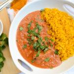 Healthier Chicken Tikka Masala with Turmeric Cauliflower Rice