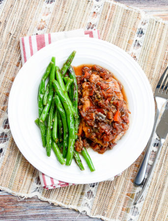 Braised Tuscan Pork Chops with Pan-Fried Green Beans | www.theeverykitchen.com