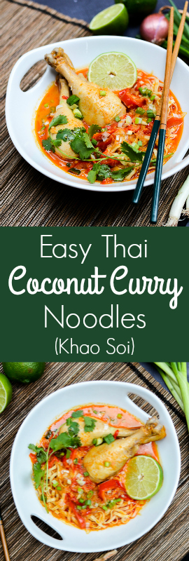 Easy Thai Coconut Curry Noodles (Khao Soi) | theeverykitchen.com