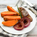 Red Onion Steak with Sweet Potatoes